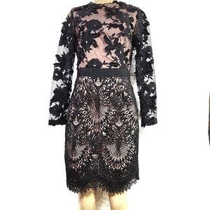 NWOT Forever Unique Black Lace Sheer Longsleeve